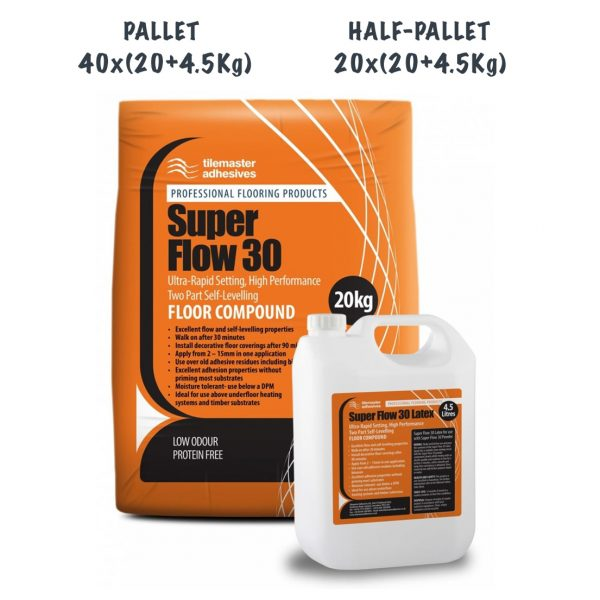 TileMaster Super Flow 30 Pallet and Half Pallet Deals