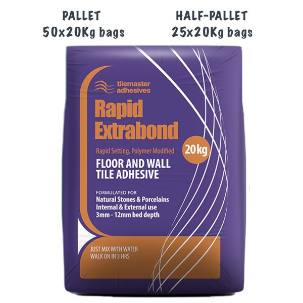 Tilemaster Rapid Extrabond Pallet and Half-Pallet deals