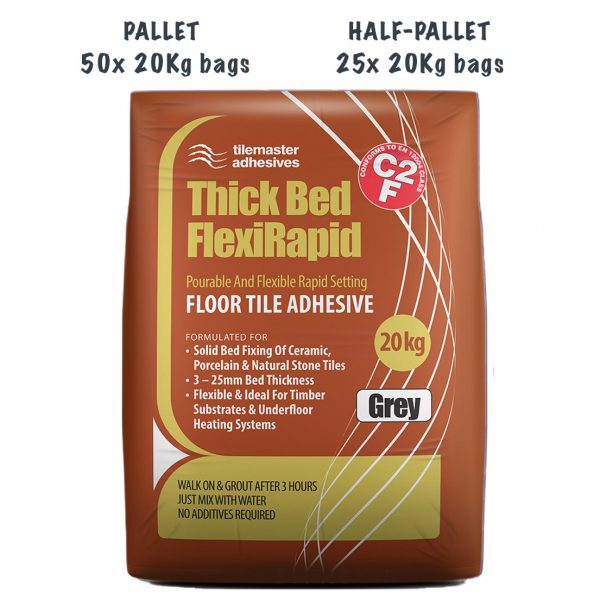 Tilemaster Thick Bed FlexiRapid Pallet and Half-Pallet deals