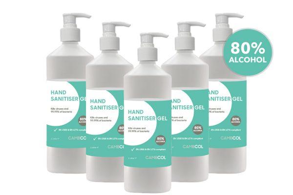 Hand Sanitiser 80% Alcohol BUK BUY CambCol - Pallet deal