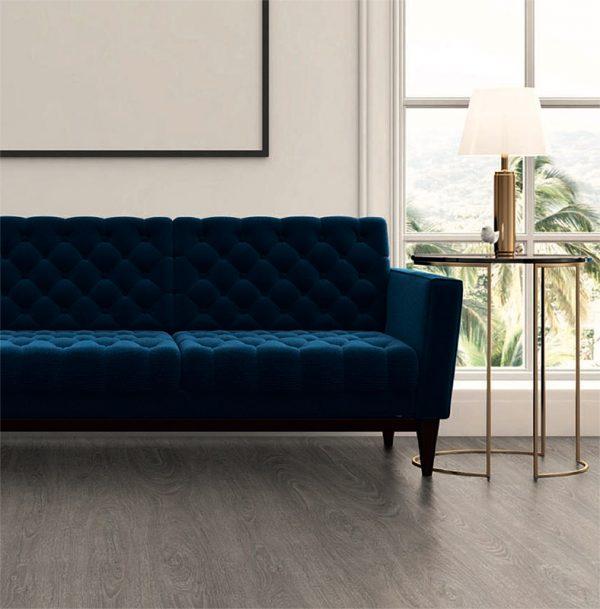 Washed Grey Oak Vinyl Click Flooring - bedroom setting - Luvanto BULK BUY