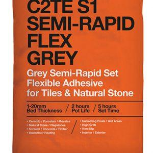 ROCATEX C2TE S1 Semi-Rapid Flex Grey tile adhesive pallet deals and bulk buy