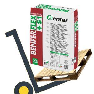 Benfer Benferflex +S1 tile adhesive pallet deals and bulk buy